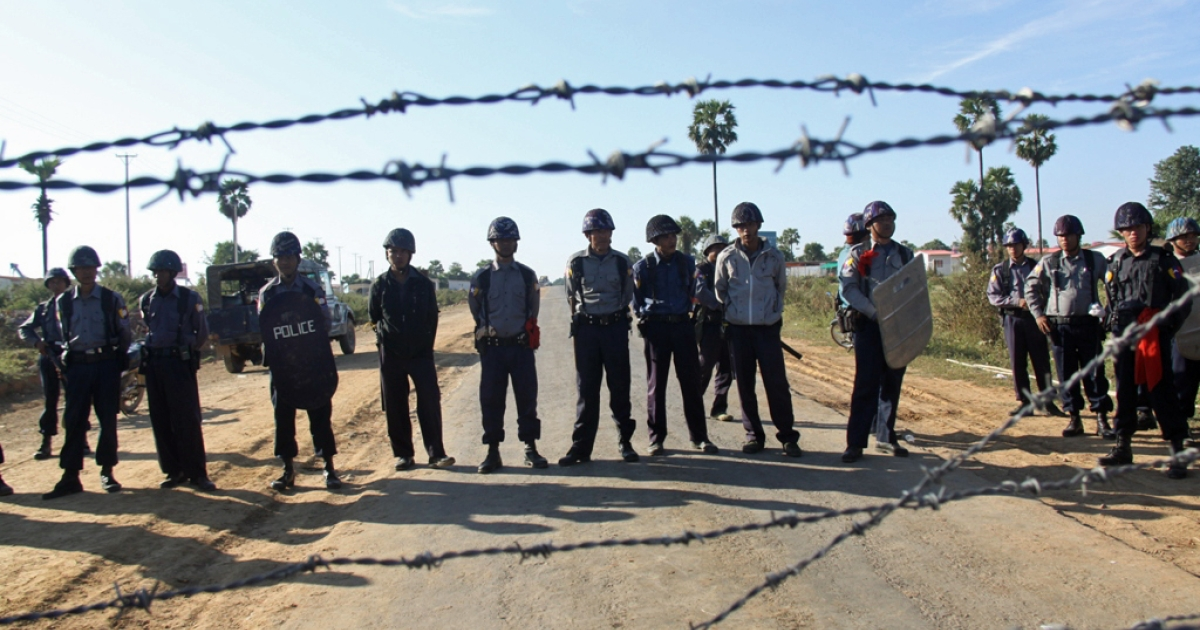 Burmese police have cordoned off the area around the project site so that villagers cannot disturb the copper project again. But protests are ongoing in other neighboring areas.</p>