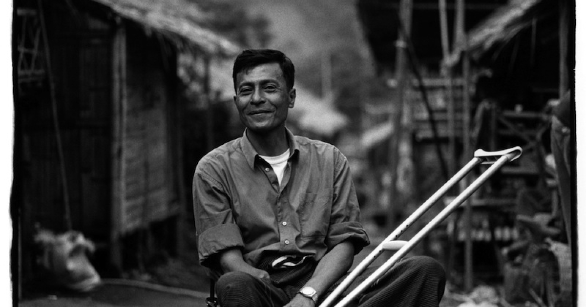 Former Burmese army soldier Myo Myint at a refugee camp on the Thai-Burma border. The son of a mid-tier army officer, Myo Myint witnessed numerous atrocities while serving in Burma's army. He later disavowed the military and fled the country.</p>