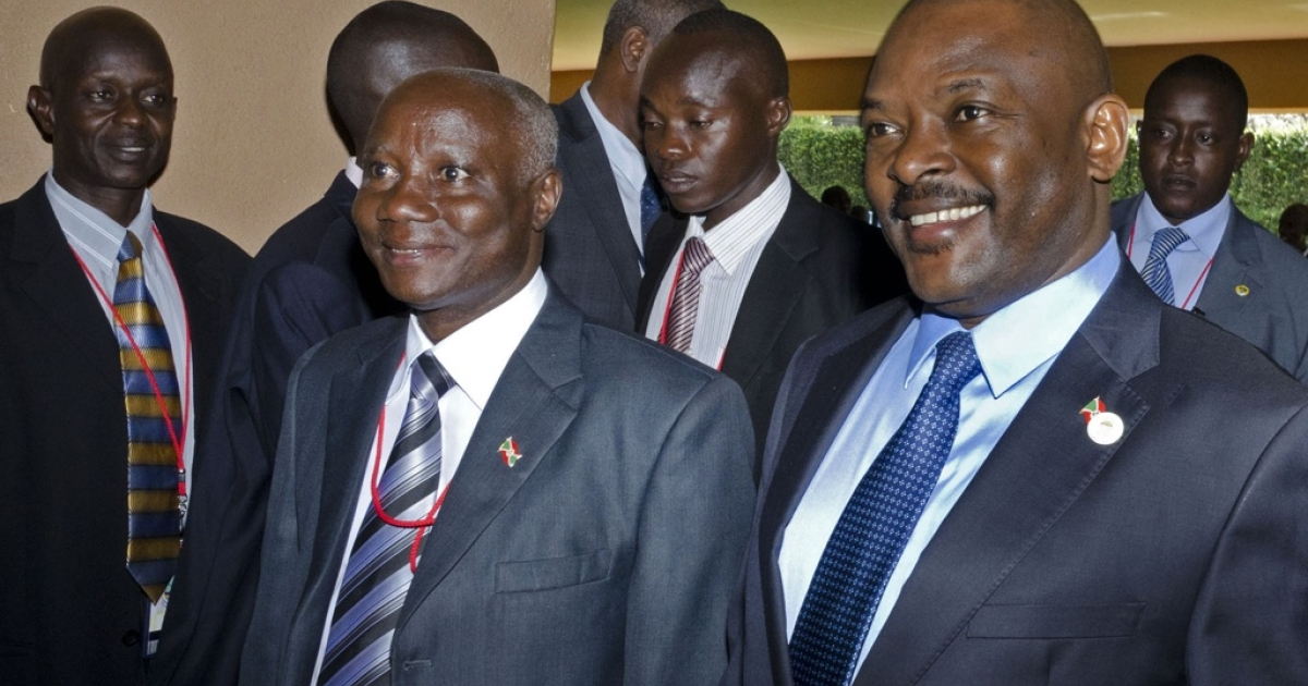 Burundi President Pierre Nkurunziza in Kampala, Uganda on December 16, 2011. Nkurunziza's government has been criticized in a report by Human Rights Watch for not stopping a series of political killings.</p>