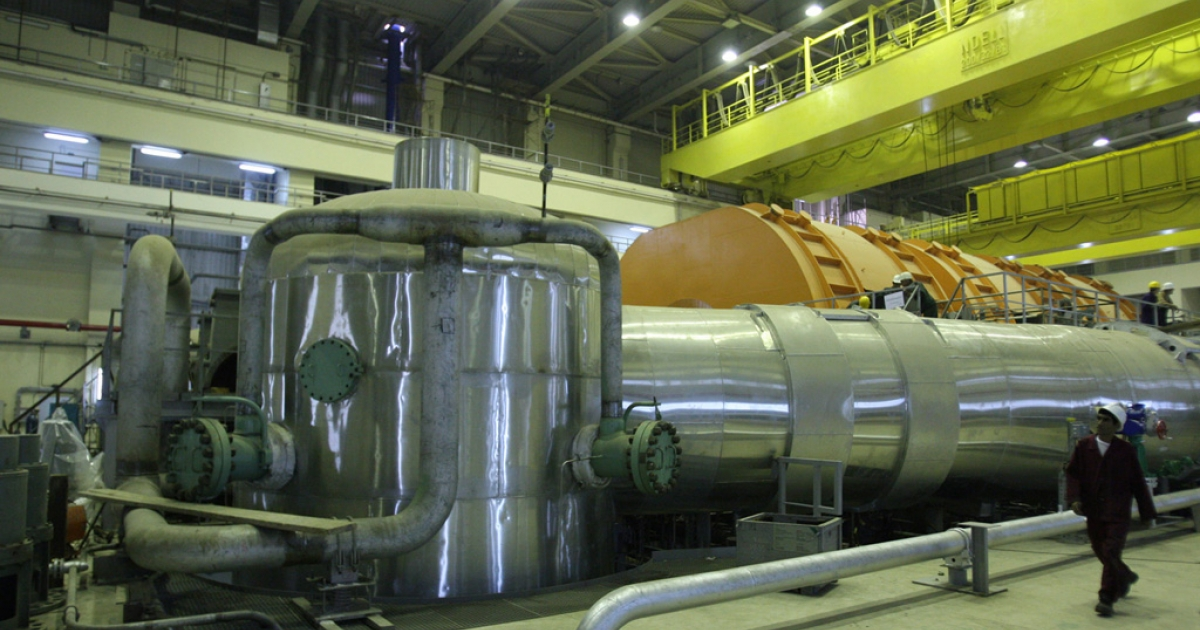 A picture shows the inside of the reactor at the Russian-built Bushehr nuclear power plant in southern Iran.</p>