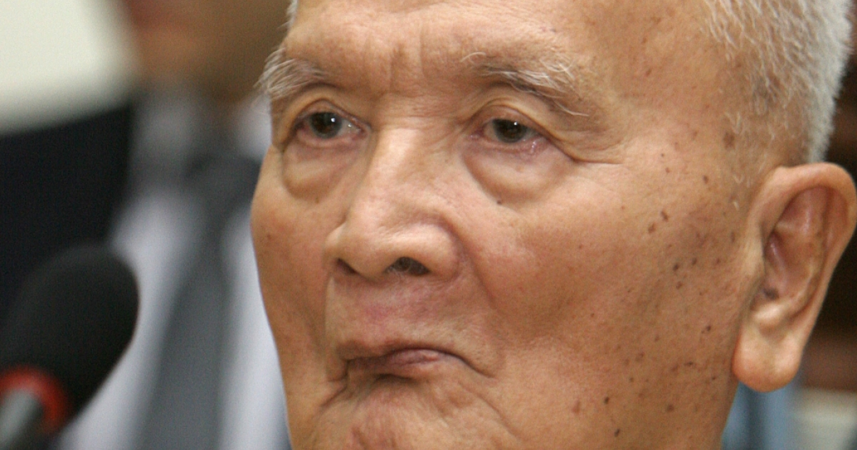 Former Khmer Rouge leader Nuon Chea.</p>
