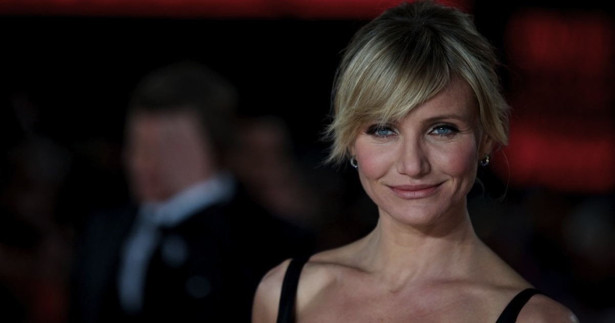 US actress Cameron Diaz poses on the red carpet as she arrives to attend the World Premier for the film 'Gambit' in Leicester Square, central London on November 7, 2012.</p>