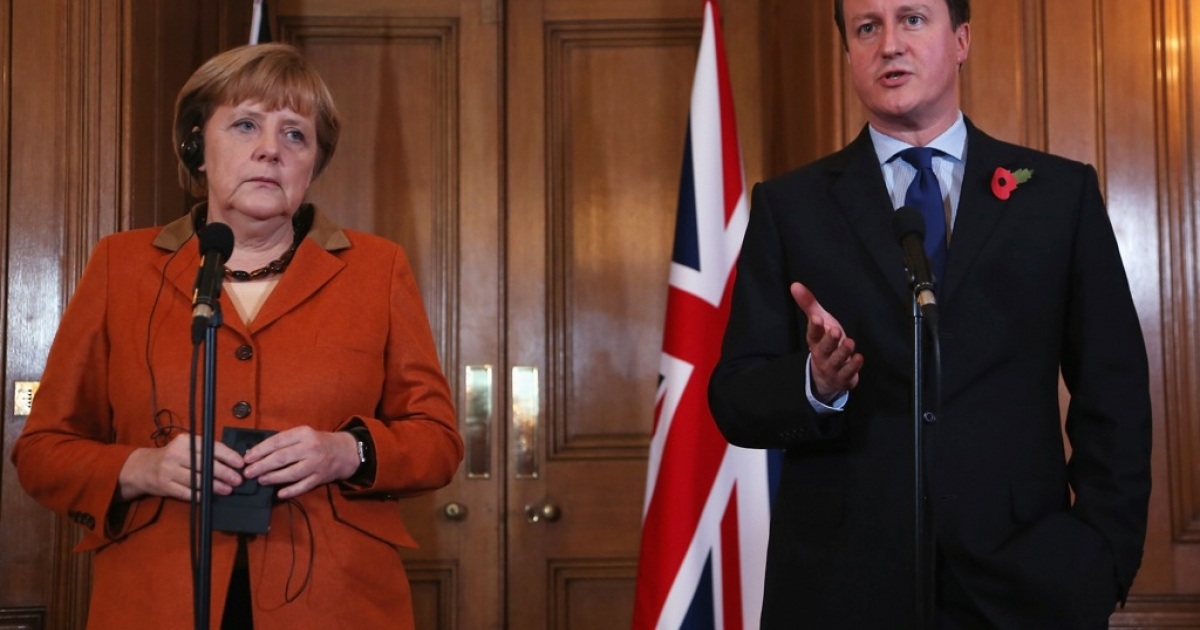 Cameron and Merkel are reported to be close, but his criticism of the EU has prompted other Germans to suggest Britain leave the union.</p>