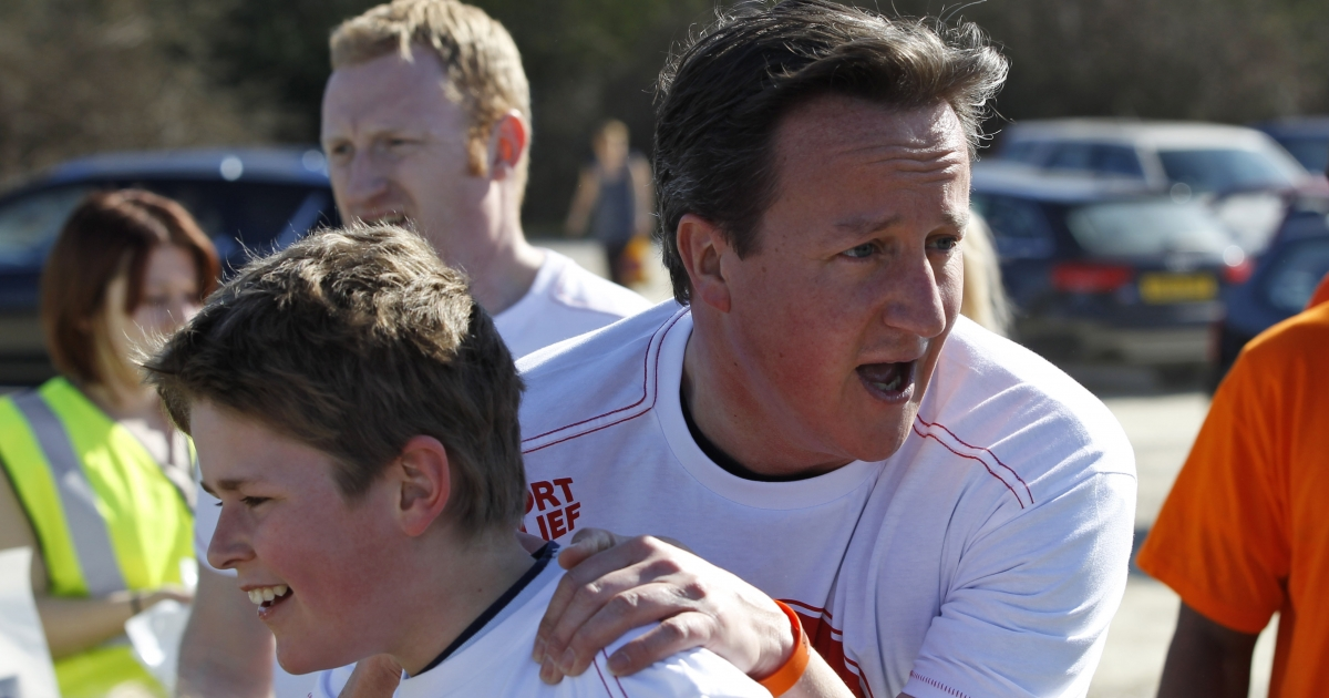 British Prime Minister David Cameron was on a charity run yesterday when word of a serious Tory party fundraising cash for access scandal erupted around him.</p>
