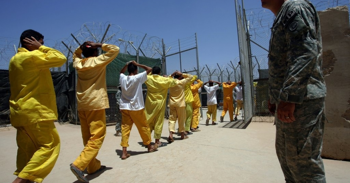 Us forces at the Camp Cropper detention facility outside Baghdad, Iraq in 2008, where Saddam Hussein himself spent three years until he was hanged in December, 2006. On Friday Iraq said it will execute two of Saddam Hussein's half-brothers within weeks, a day after they were handed over by the United States.</p>