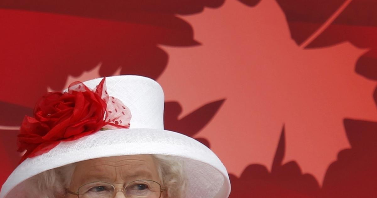 Queen Elizabeth II during Canada Day celebrations in Ottawa, July 1, 2010.</p>