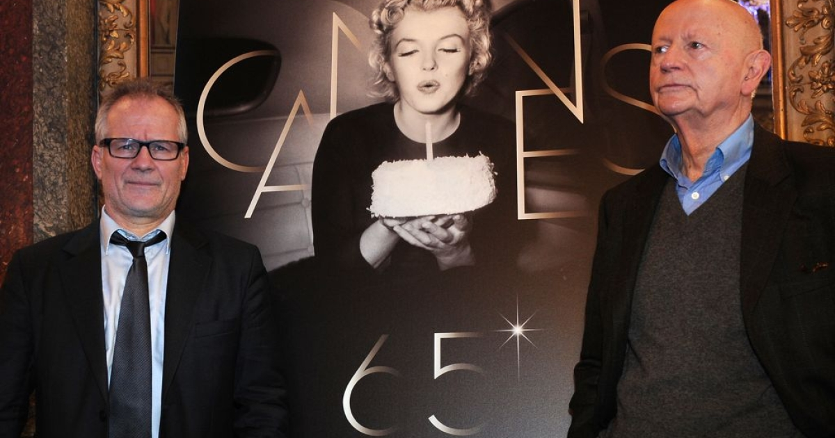 Boys' club? Organizers of the Cannes Film Festival, including president Gilles Jacob (R) and director Thierry Fremaux, are accused of treating women as window dressing instead of serious competitors.</p>