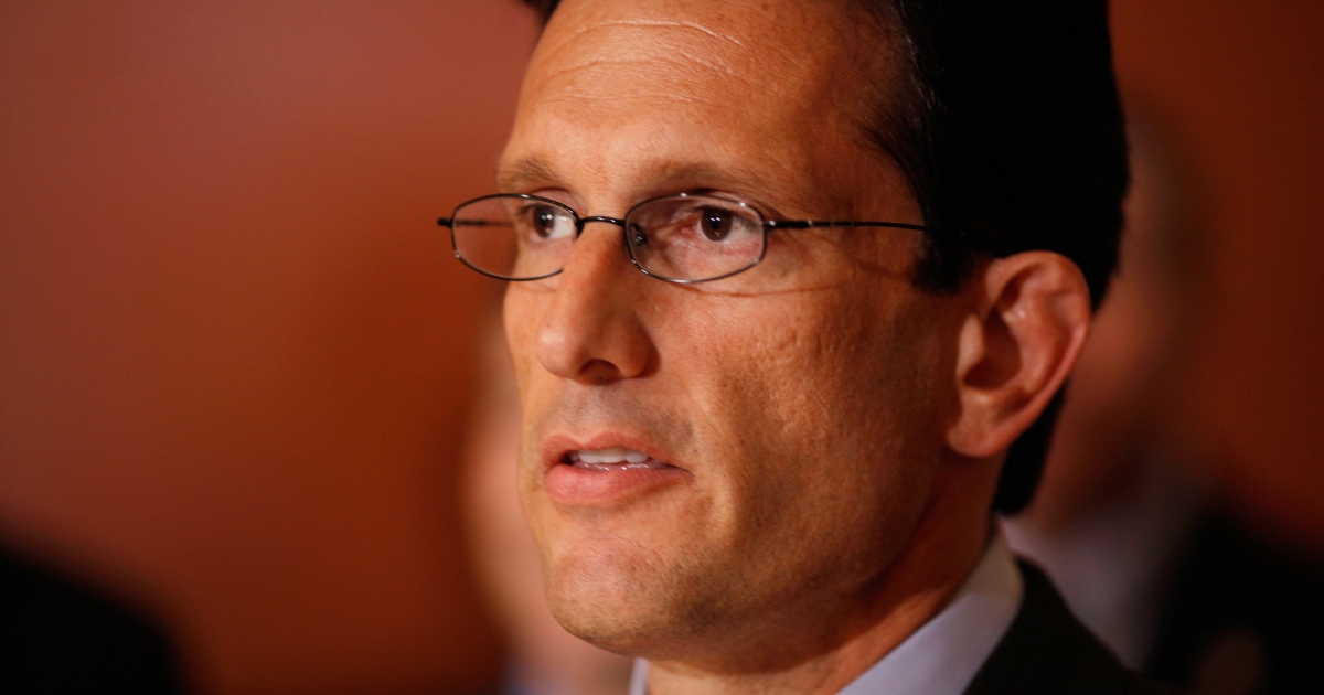 House Majority Leader Eric Cantor at the U.S. Capitol in Washington, D.C. on July 25, 2011.</p>