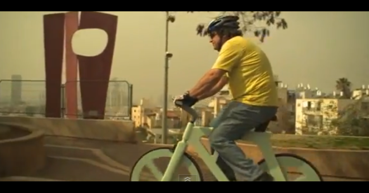Israeli inventor Izhar Gafni has built a $20 cardboard bicycle that he says is waterproof, fireproof and durable.</p>
