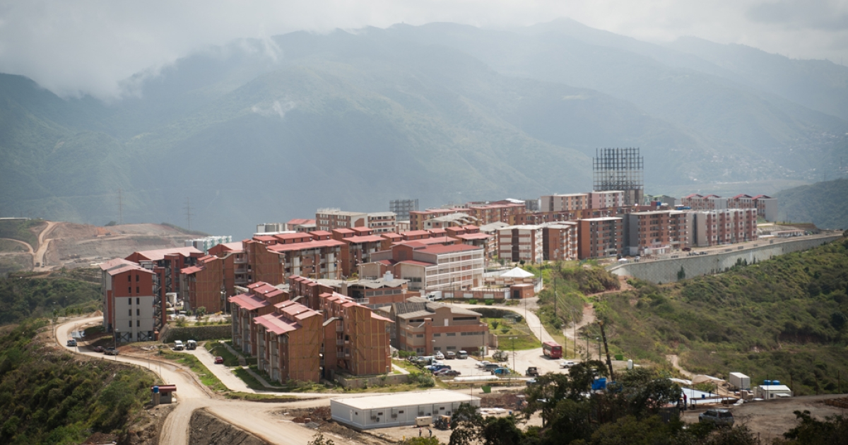 View of Caribia, a town on the outskirts of the Venezuelan capital city of Caracas. President Hugo Chavez had Caribia built as one his