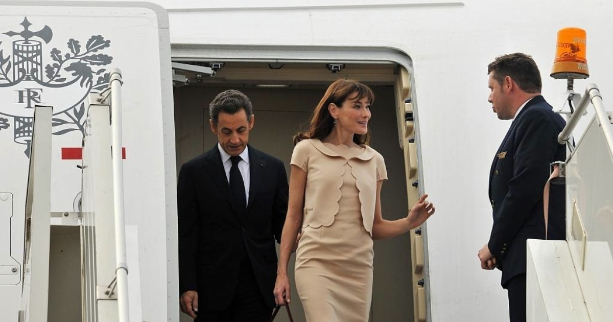 Carla Bruni-Sarkozy, first lady of France</p>