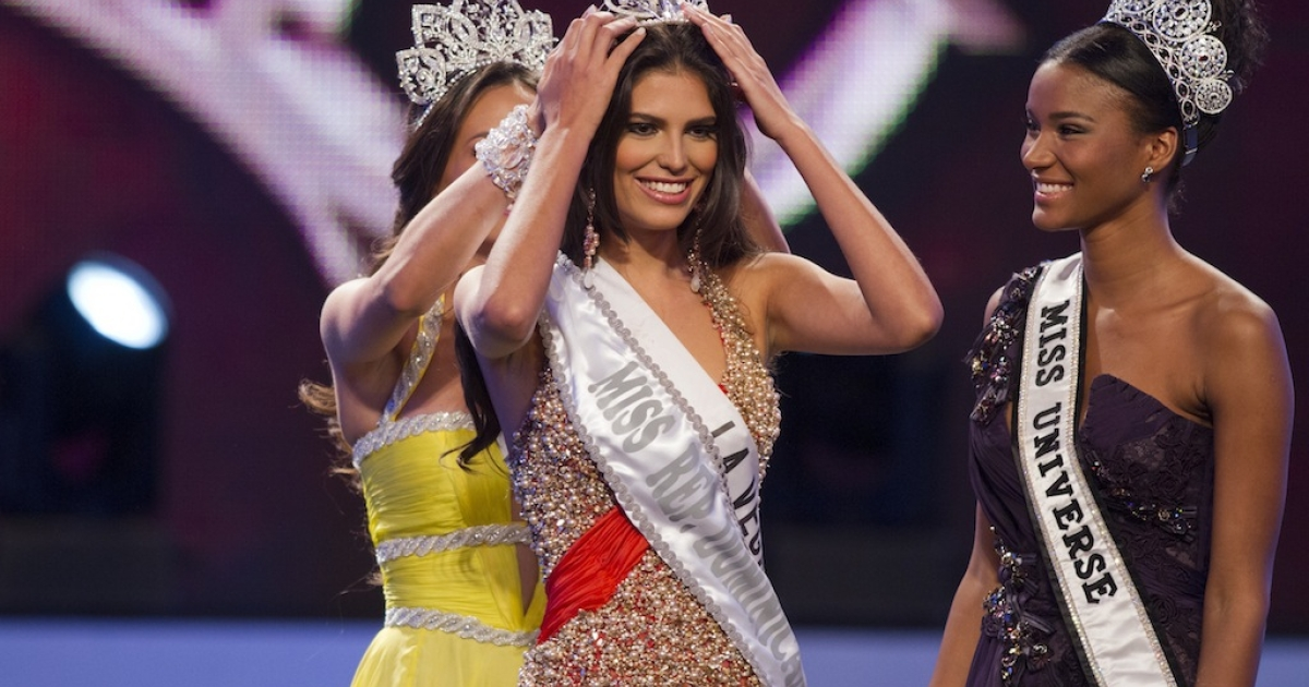 Carlina Durán, 25, was crowned Miss Dominican Republic 2012 in Santo Domingo, on April 17, 2012. She has now had to hand over her crown to Dulcita Lieggi, 22, after pageant officials discovered she was married.</p>