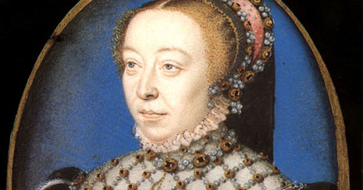 A rare portrait of Catherine de Medici before she was widowed in 1559.</p>
