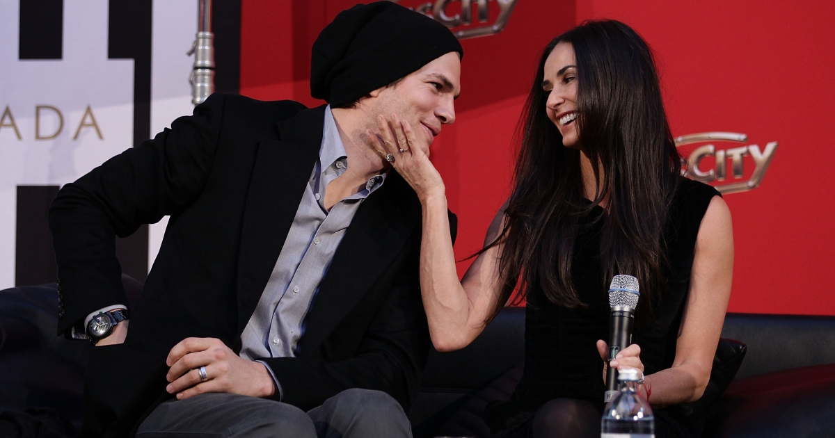 Former couple Demi Moore and Ashton Kutcher are seen here attending the photo call for their Charity Gala at PlusCity in October, 2010 near Linz, Austria.</p>