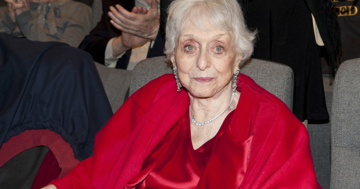 Celeste Holm attending The Academy of Motion Picture Arts And Sciences Celebrates The 65th Anniversary Of