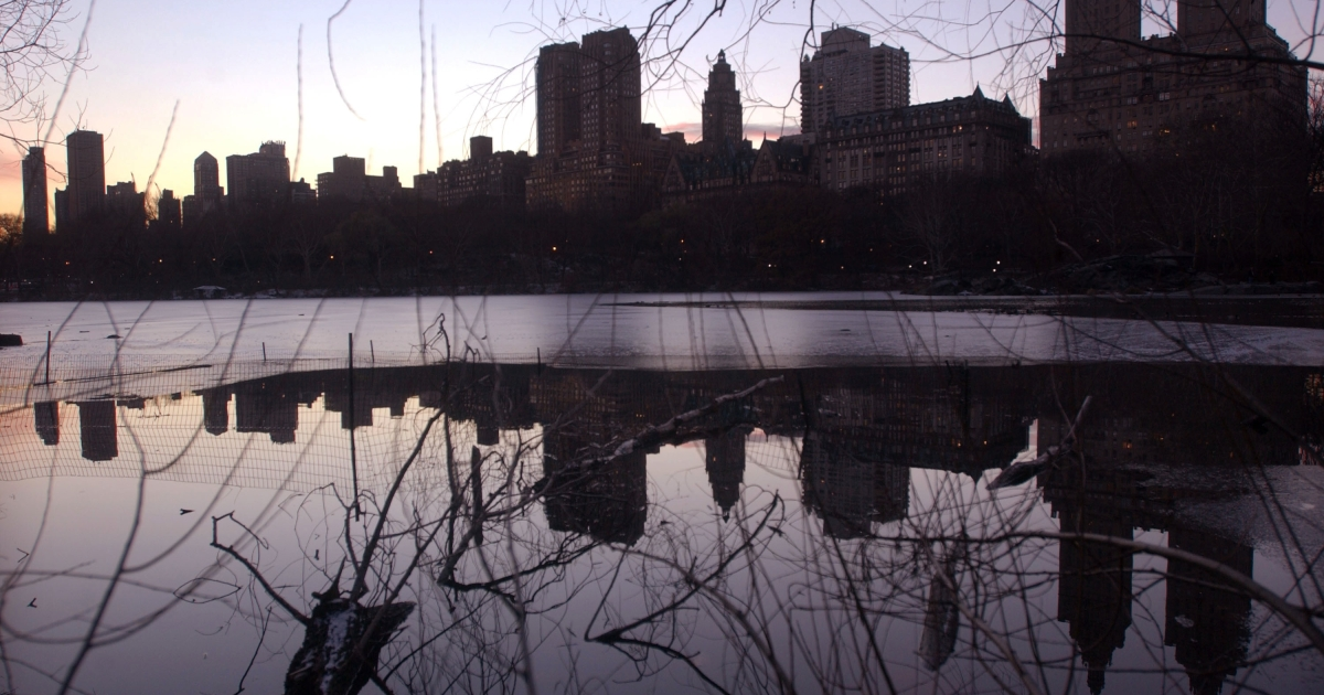 New York City's Central Park on a winter evening.</p>