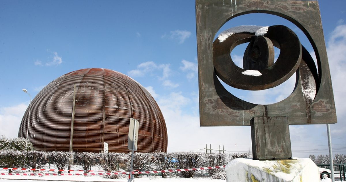 A view of the CERN in Geneva, Switzerland, where scientists are revisiting their groundbreaking experiment in which neutrinos were sent to Gran Sasso Laboratory at a rate faster than the speed of light.</p>