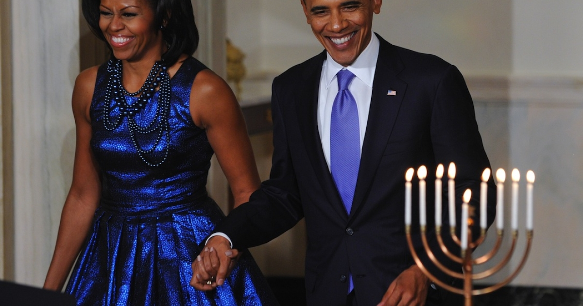 Andrew Adler writes in his Atlanta Jewish Times that Israel might consider assassinating President Barack Obama, seen here with First Lady Michelle Obama at Hanukkah reception last year at the White House, to defend itself against Iran.</p>