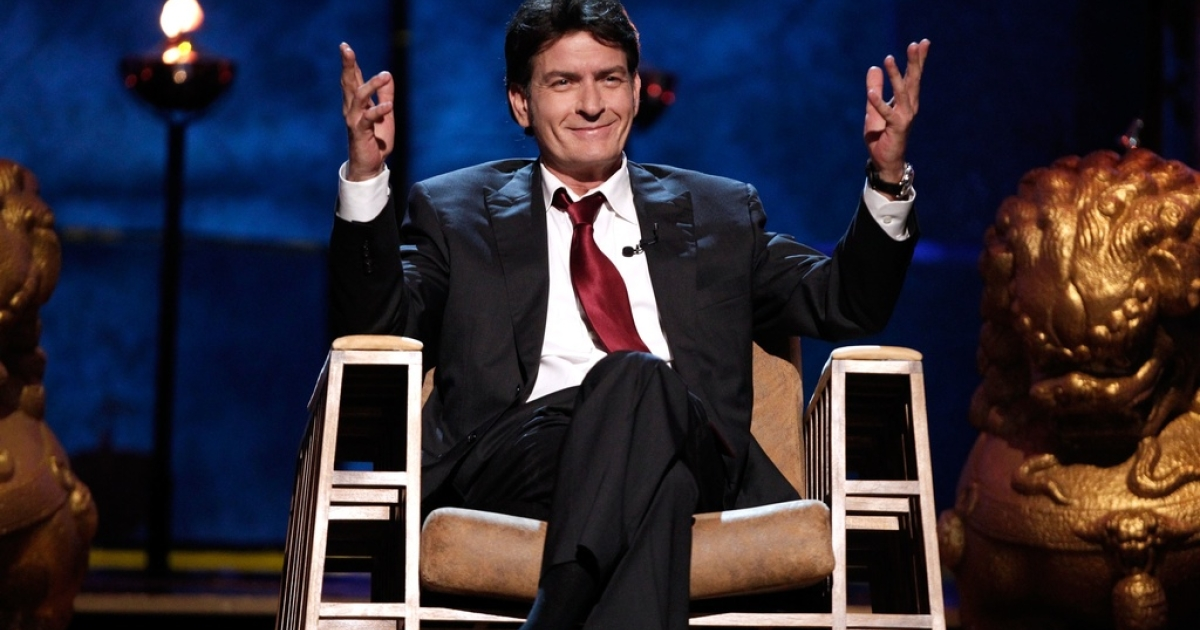 Actor Charlie Sheen during 2011 when he now admits he was in the midst of
