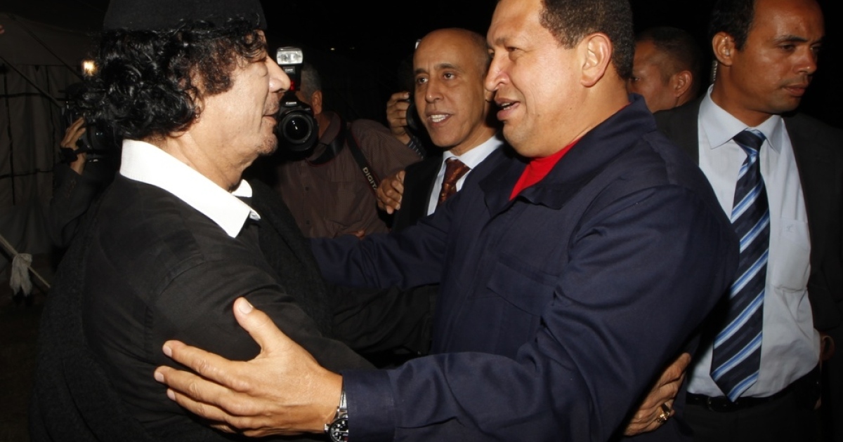 Muammar al-Gaddafi, and Chavez, his friend to the end.</p>