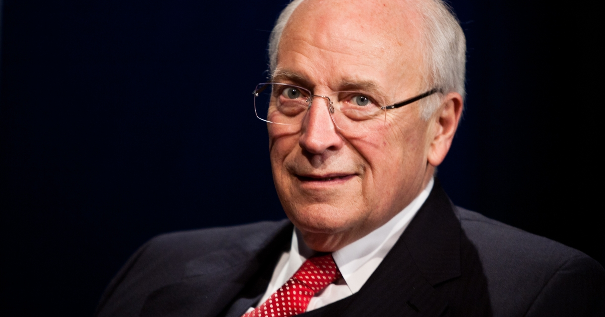 Former Vice President Dick Cheney is interviewed at SiriusXM studios on Oct 25 in Washington.</p>