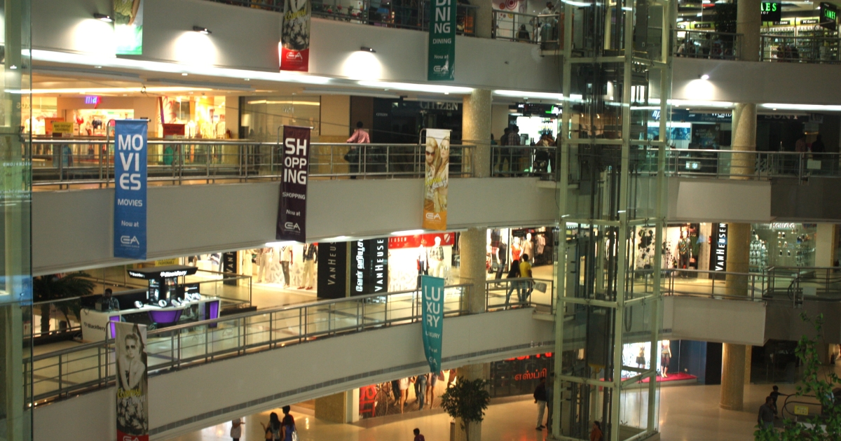 Shoppers at the Express Avenue Mall in the southern Indian city Chennai.</p>