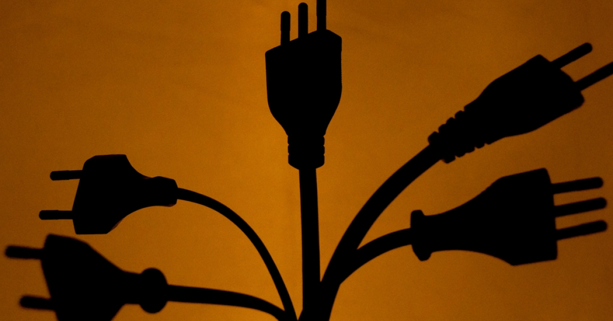 Electrical plugs in Santiago, Chile, Oct. 20, 2012.</p>