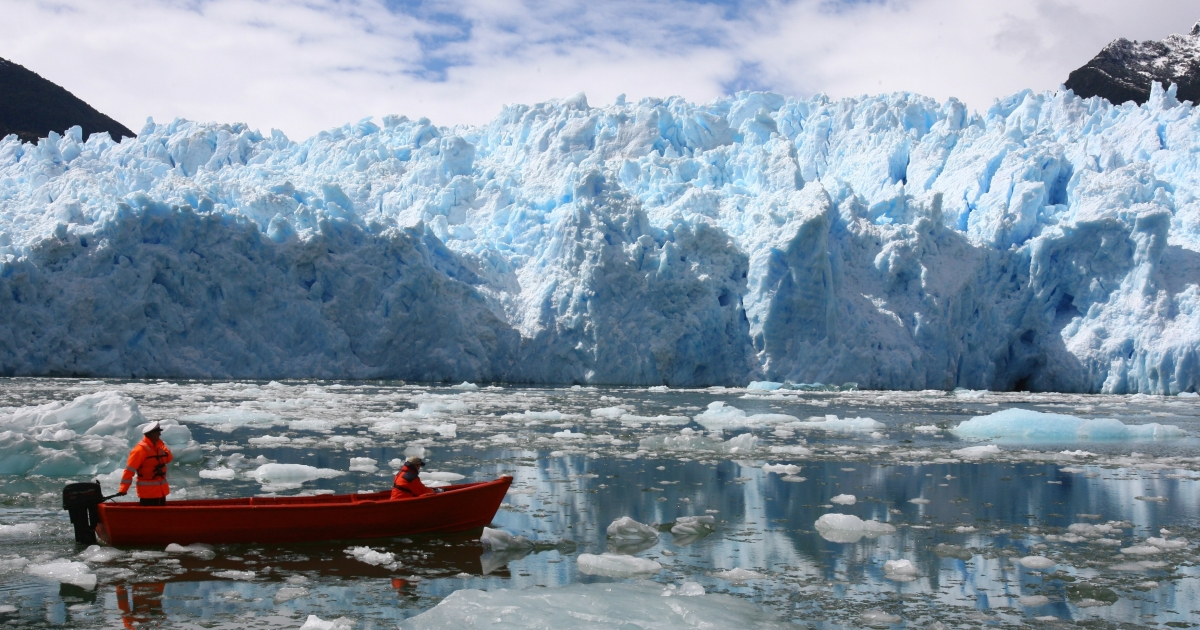 Chile's Patagonia is famous for breathtaking sights such as this massive ice field.</p>