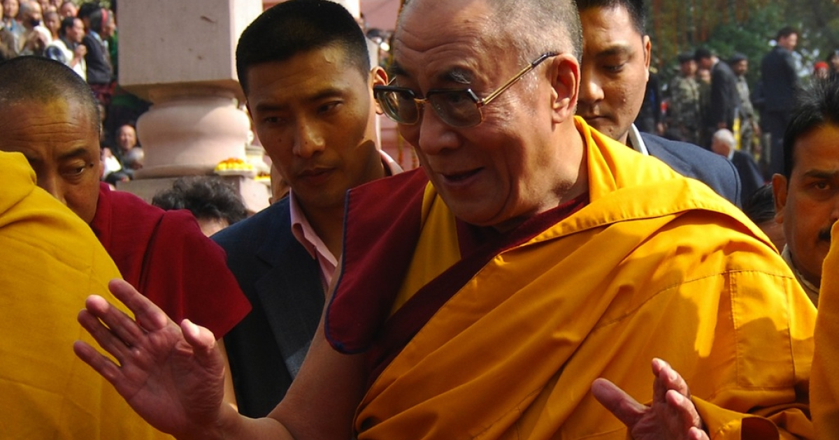 Tibetan spiritual leader the Dalai Lama visits the Mahabodhi Temple on his way back after the conclusion of the Kalachakra Festival in Bodhgaya on January 11, 2012. Kalachakra 2012, a festival of teachings and meditations will take place from January 1, 2012 for ten days in the northern Indian state of Bihar and will be attended by Tibetan Spiritual Leader The Dalai Lama.</p>