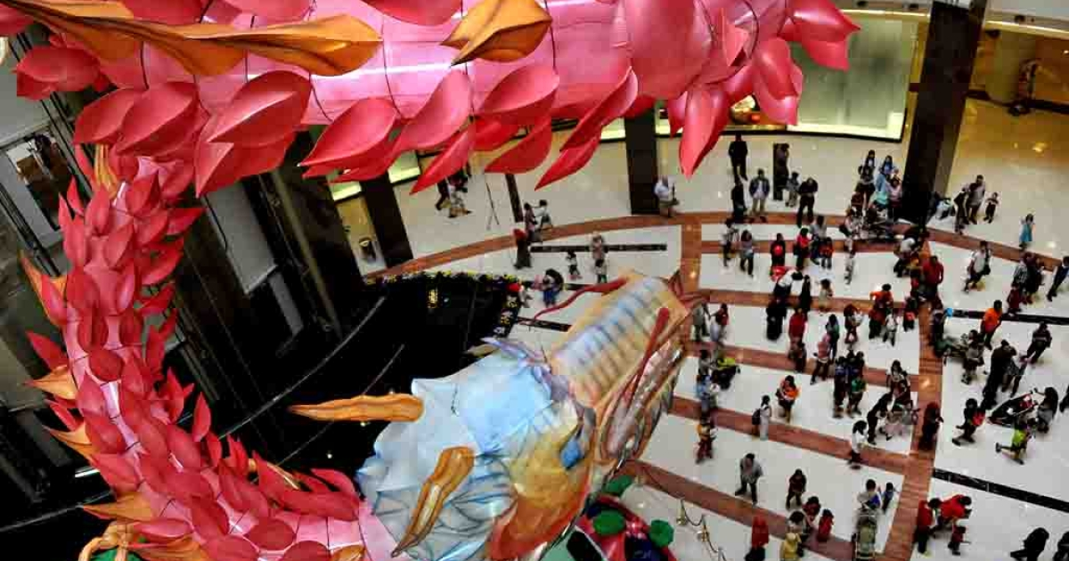 A dragon decoration at a shopping mall in Jakarta on January 21, 2012 ahead of the Chinese Lunar new year of the dragon.</p>