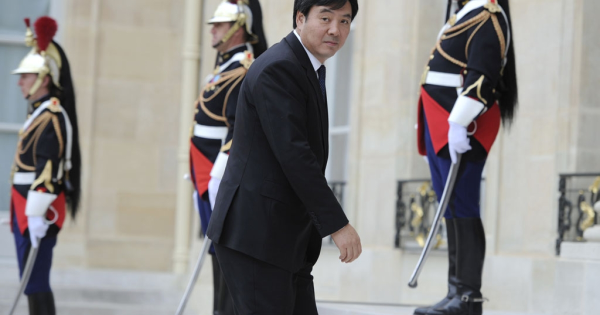 China's foreign affairs Vice-Minister in charge of Africa and Middle-East  Zhai Jun arrives at the Elysee Palace before a summit on the post-Gaddafi era on Sept. 1, 2011 in Paris. This week, China became the last U.N. Security Council member to recognize the Libyan rebels as the leaders of the North African country.</p>