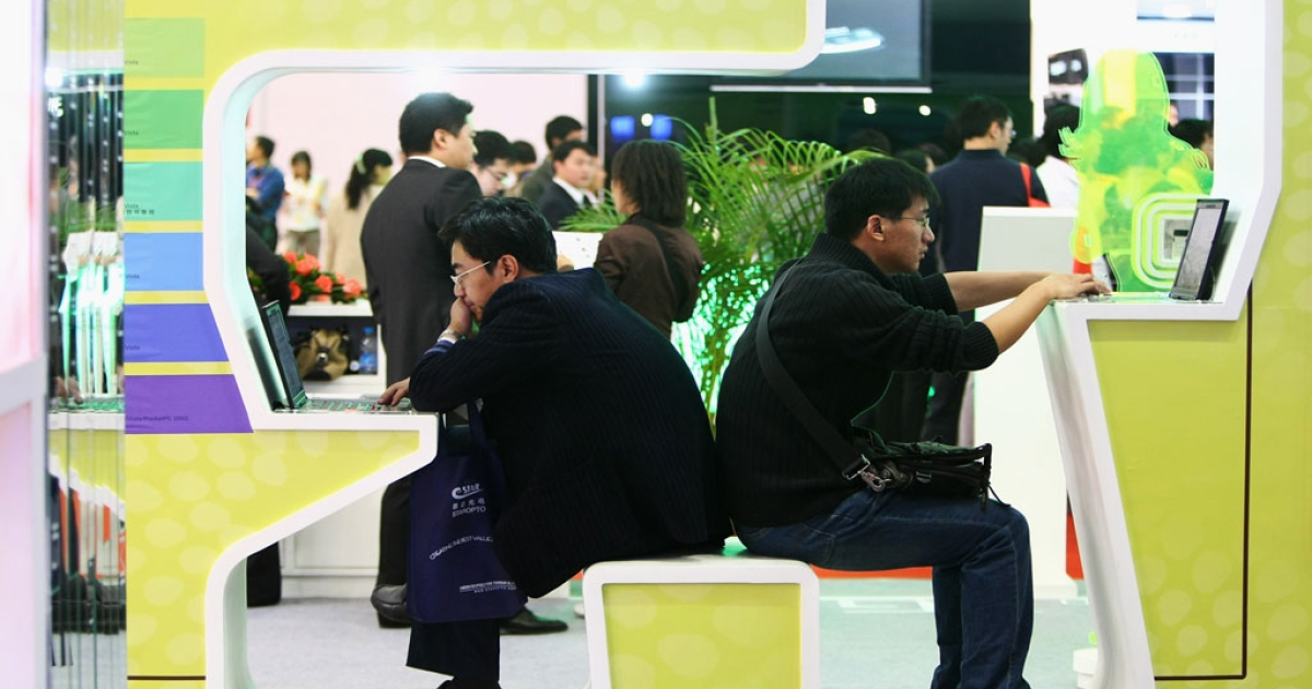 Chinese online programming fans may find their favorite shows subject to more censorship. Chinese visitors test the 3G wireless network at the P&amp;T/Expo Communication China 2008 at China International Exhibition Center on October 21, 2008 in Beijing, China.</p>