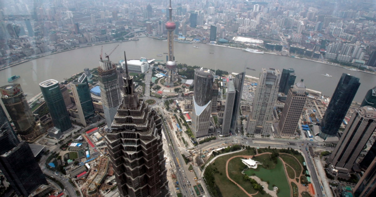 A new report from The South China Morning Post said the Chinese government could be about to relax its ban on Facebook, Twitter and the New York Times in the free-trade zone of Shanghai. An elevated view of downtown Shanghai.</p>