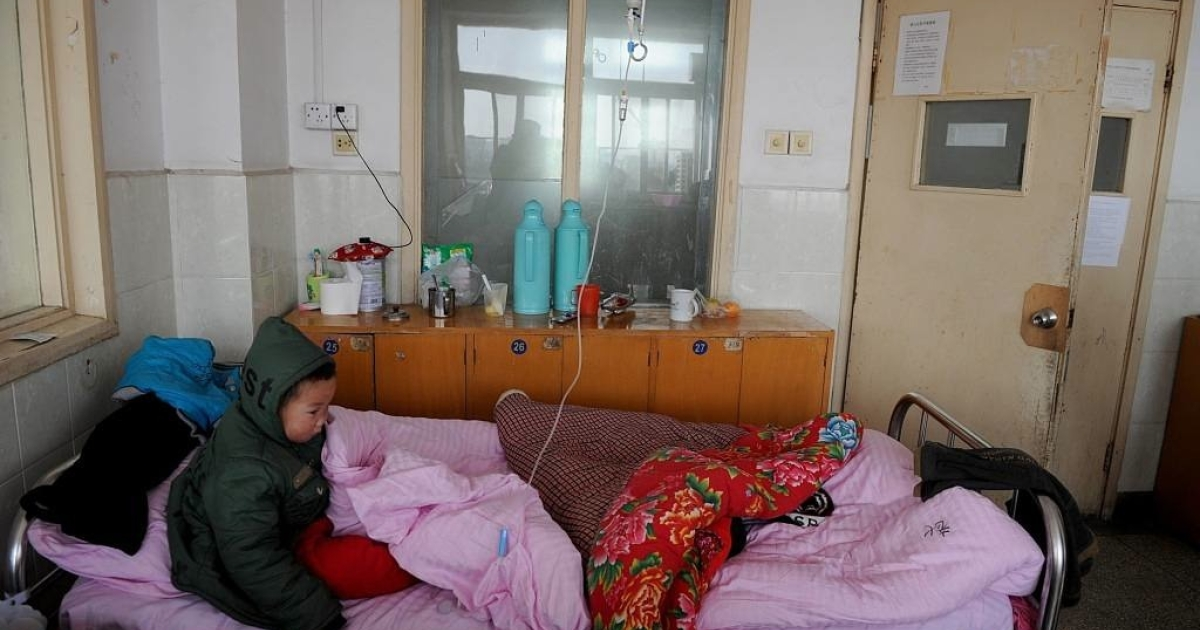 A Chinese child receives treatment for lead poisoning in January 2011 after being exposed to lead from an unlicensed battery factory in Huaining. China is now being accused of trying to cover up the extent of lead poisoning among children.</p>