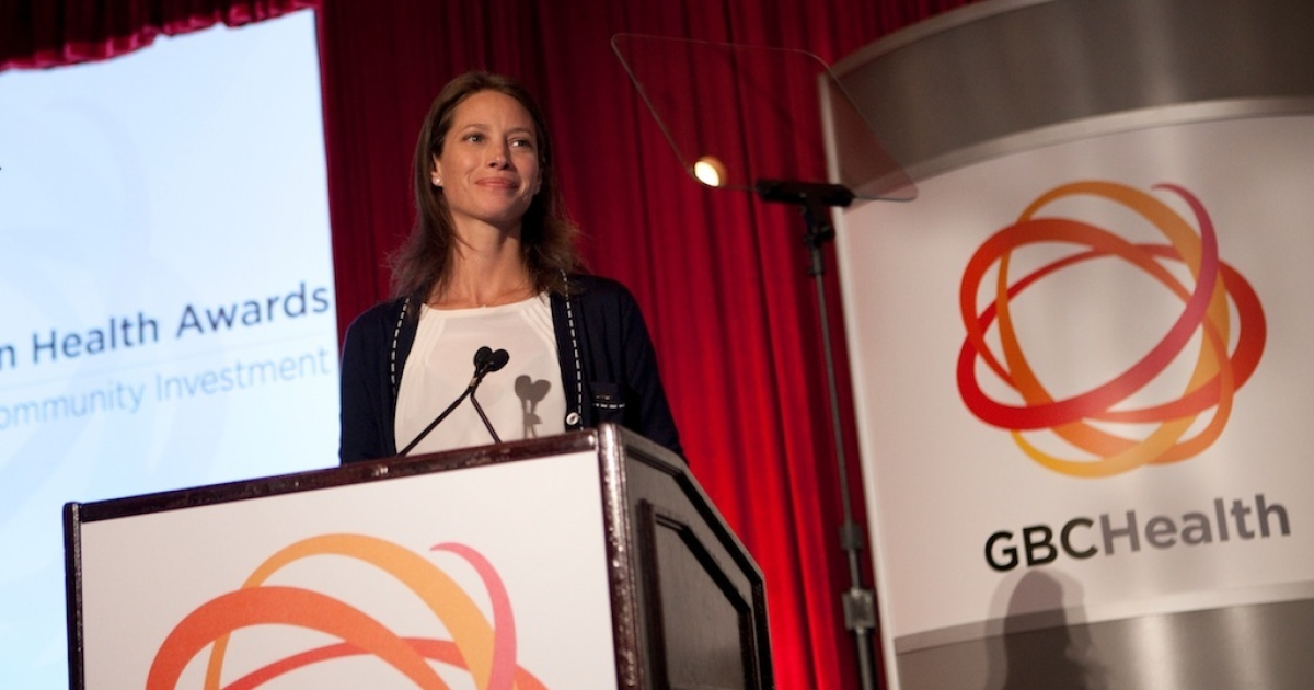 Model and maternal health advocate Christy Turlington Burns at the GBCHealth Conference in New York.</p>