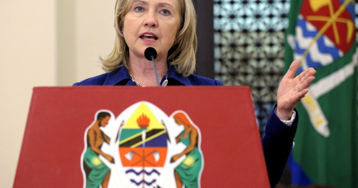 Hillary Clinton, pictured here in Dar es Salaam during her five-day tour of Africa, has backed a plan for north Sudan to withdraw its soldiers from Abyei and for Ethiopian peacekeepers to be deployed to the disputed border region.</p>