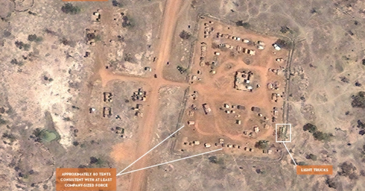 Satellite Sentinel Project images show a buildup of troops along the volatile border between North and South Sudan.</p>
