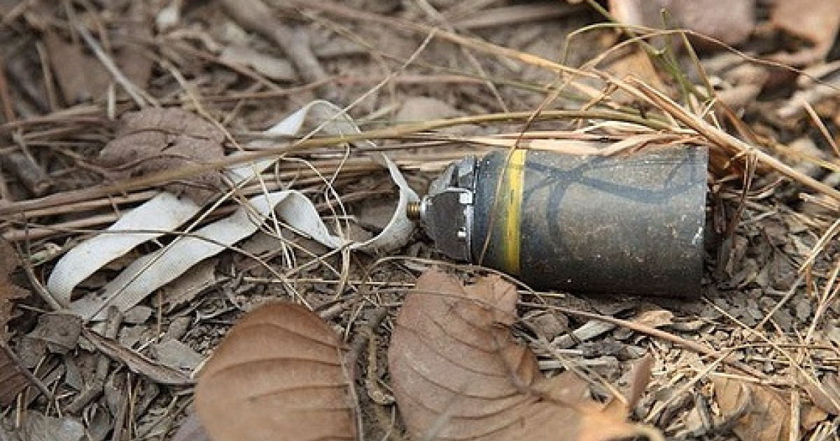 This photo, taken by the Cluster Munition Coalition inside Cambodia, suggests Thailand fired deadly cluster munitions into Cambodia.</p>