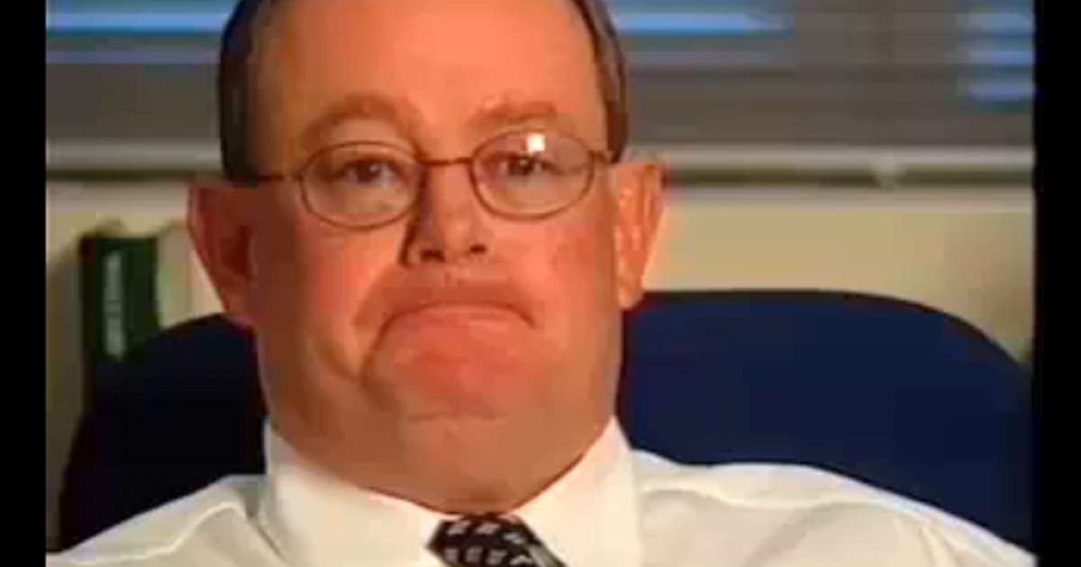 Col Allan appears in this still image taken from a YouTube video of a television broadcast in Australia during his tenure as editor of that country's Daily Telegraph.</p>