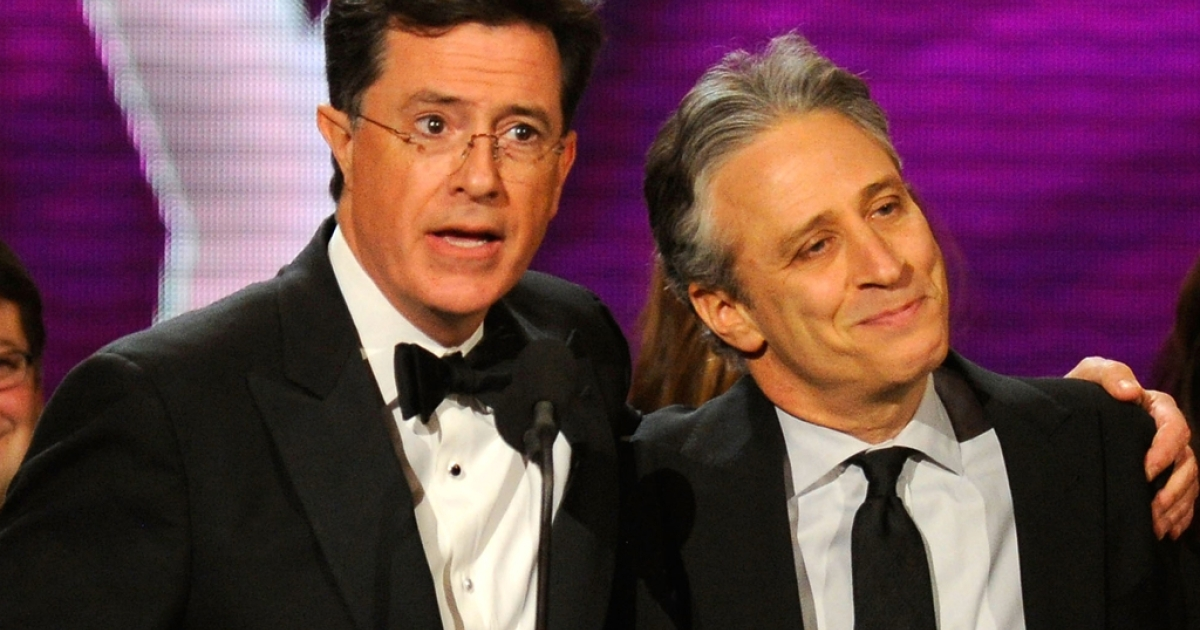 Three Senate offices and Stephen Colbert and Jon Stewart (pictured above) received threatening letters from a sender who warned of biological attacks on senators, said officials on February 22, 2012.</p>