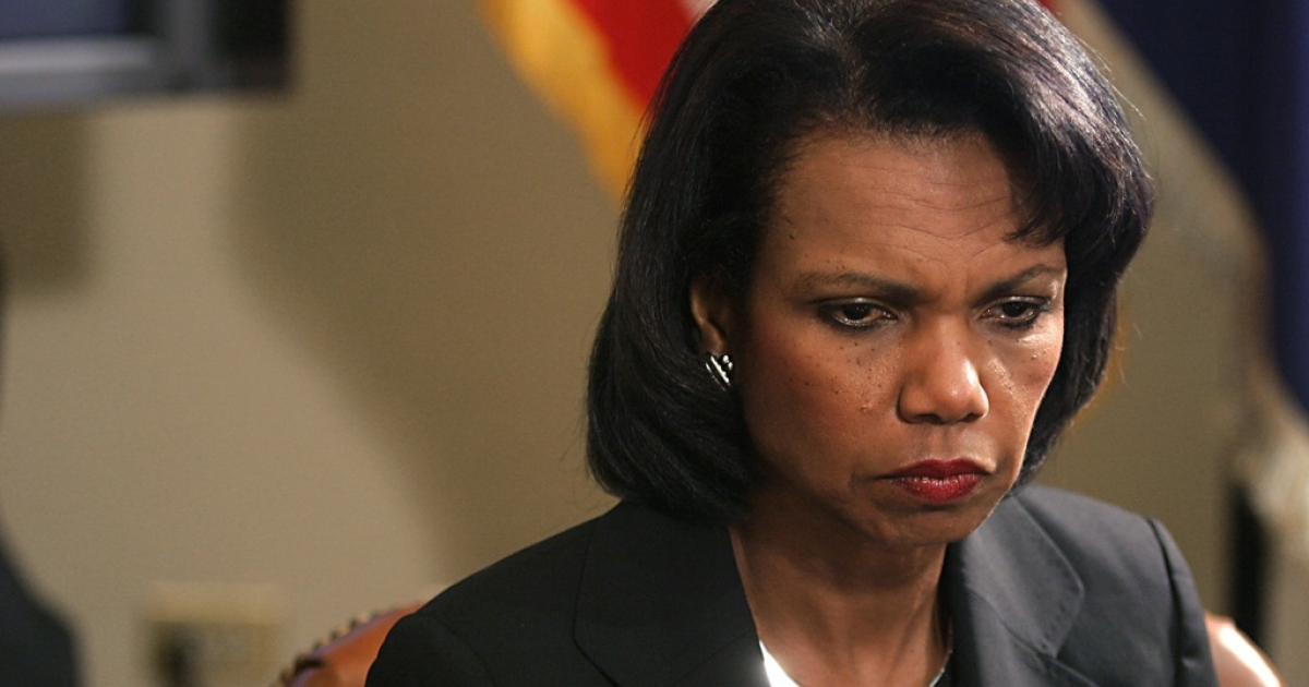 Does the party of Sarah Palin find Condoleeza Rice unfit to serve as Vice President?</p>