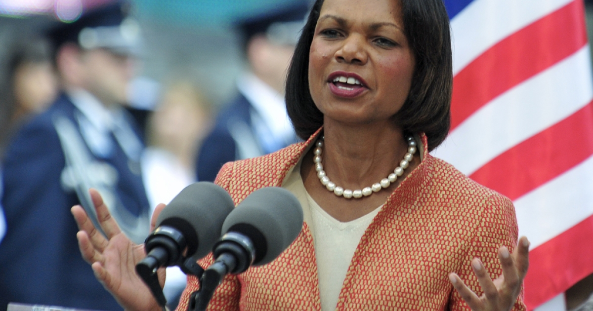 Former US secretary of state Condoleezza Rice topped a poll by CNN/ORC International released on April 18, 2012 on potential vice presidential running mates for Republican candidate Mitt Romney.</p>
