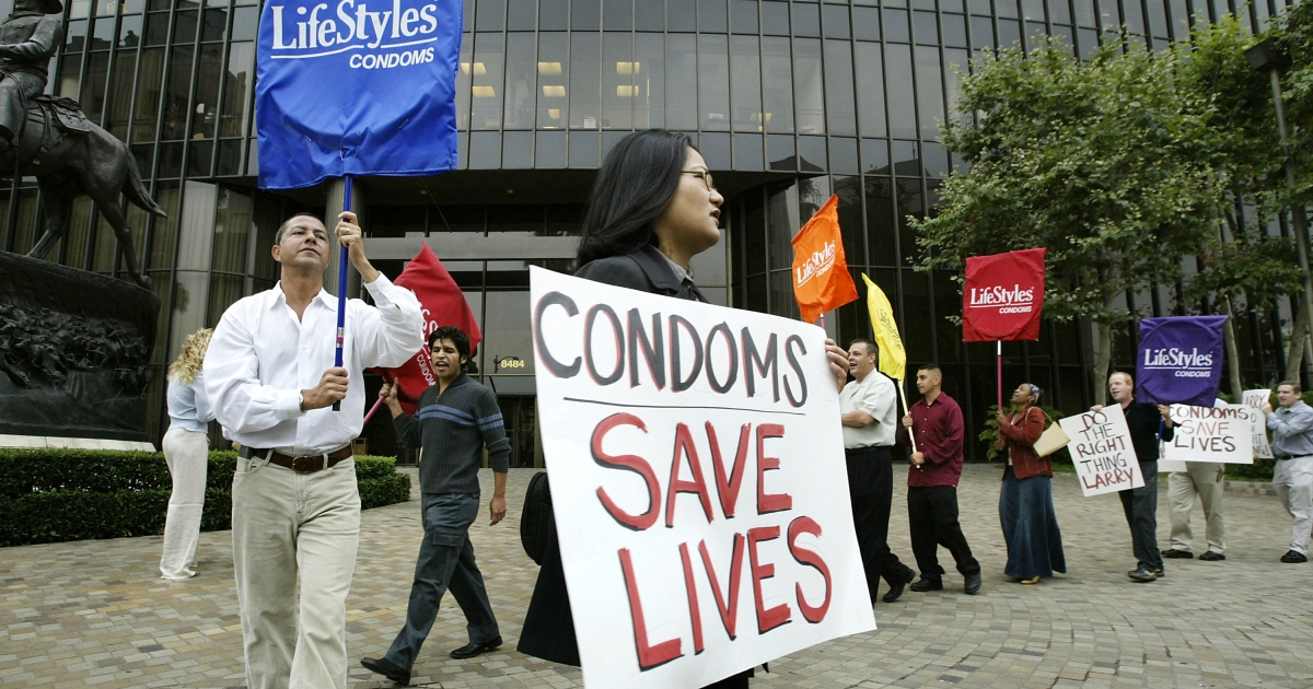Condoms must be worn in porn while filming within Los Angeles city limits.</p>