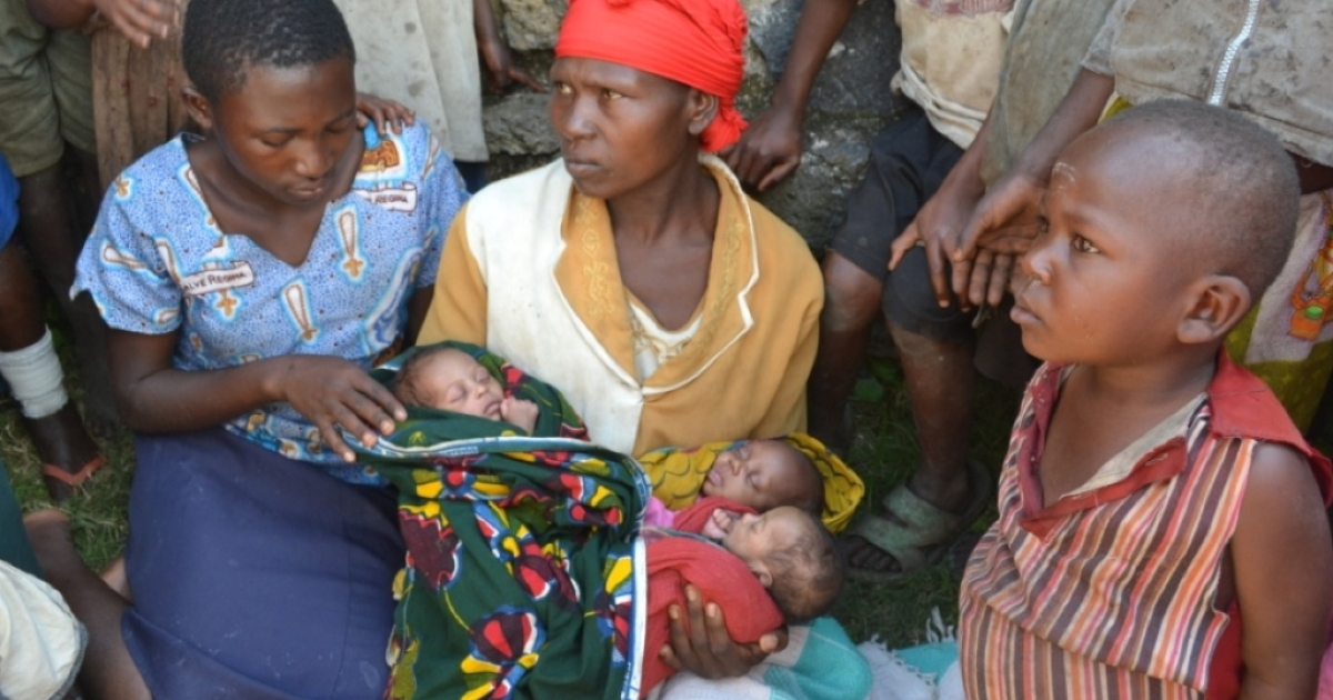 Esther and her newborn triplets seek refuge from the burgeoning conflict in eastern Congo.</p>