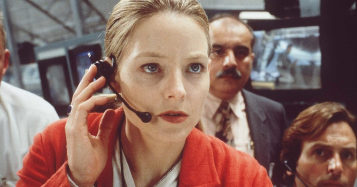 Jodie Foster as Ellie Arroway in 'Contact,' a film based on the best-seller by Carl Sagan.</p>