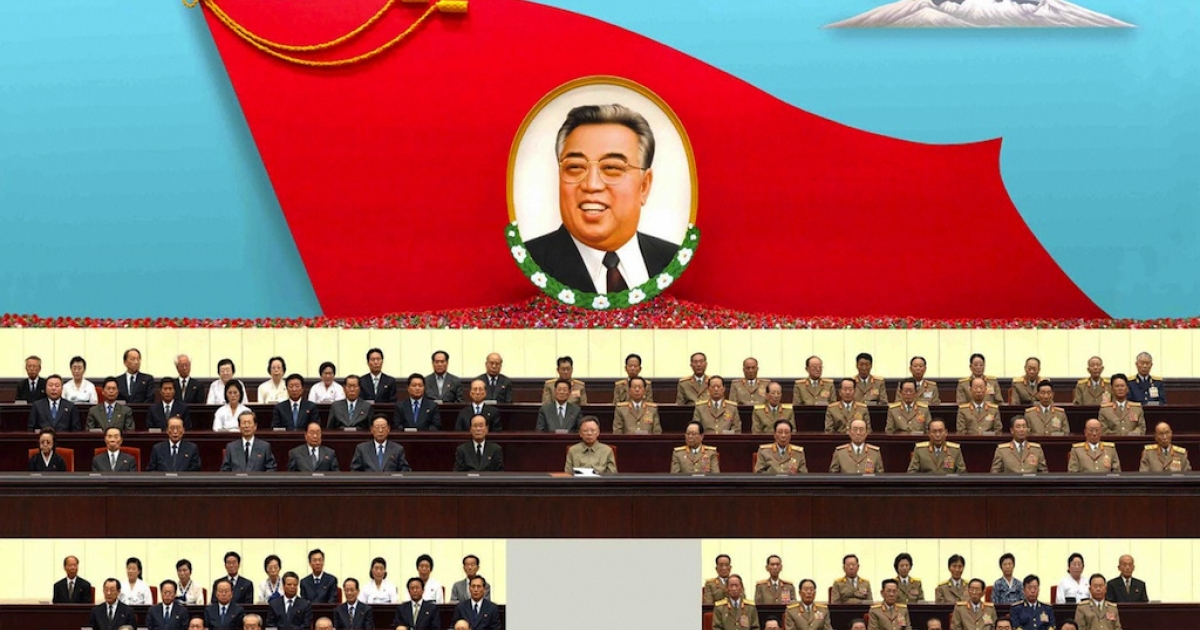 #182 — North Korea<br />North Korean leader Kim Jong-Il, accompanied by senior officials of the Workers' Party of Korea and Korean People's Army officials, attends the 15th anniversary memorial service of the country's late President Kim Il-Sung at the Pyongyang gymnasium on July 8, 2009.</p>