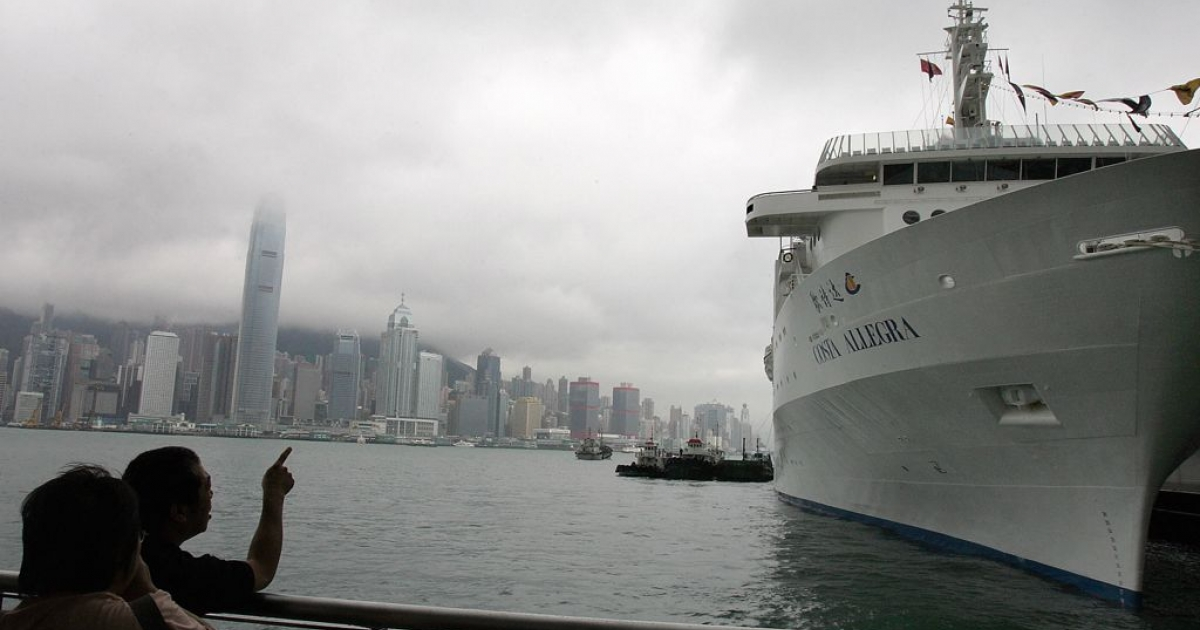 The Costa Allegra docked in Hong Kong prior to its maiden voyage, on May 29, 2006.</p>