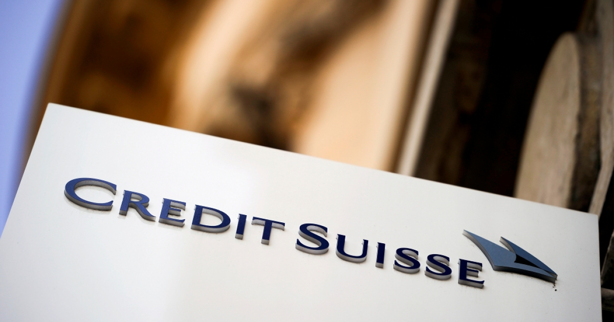 A Credit Suisse sign is pictured in front of a branch of the Swiss bank on July 15, 2010 in Lausanne.</p>