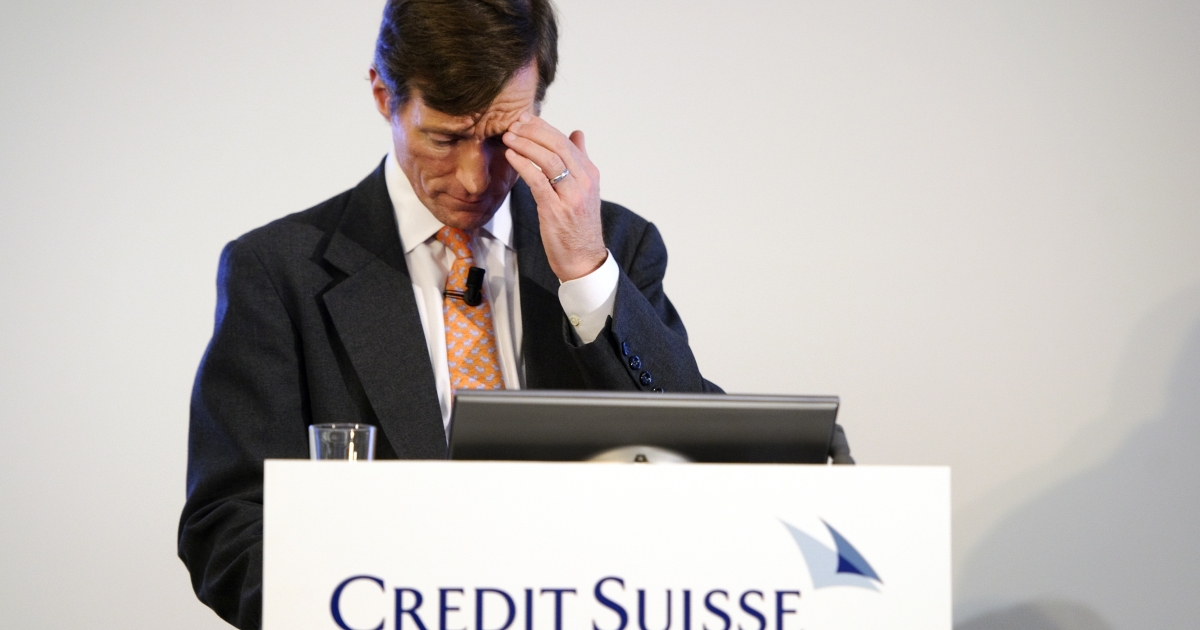 Credit Suisse CEO Brady Dougan announced today Credit Suisse plans to cut another 1,500 jobs.</p>