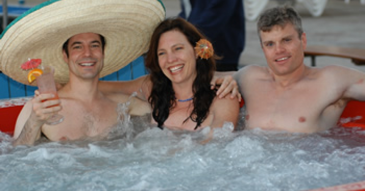 Beware: not all nude cruisers look like this threesome.</p>